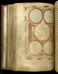 A decorated page, In 'The Bodmin Gospels'